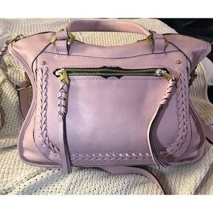 "orYANY ""Sarah"" pebbled leather satchel."